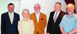 Comité de l'association des amis de l'abbaye cistercienne de Bonmont